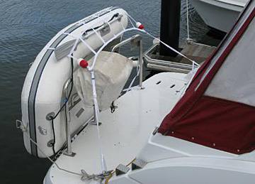 Davits davit systems for inflatable boats for Best way to store an outboard motor